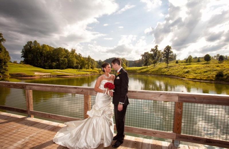 Wedding couple at Stonewall Resort.