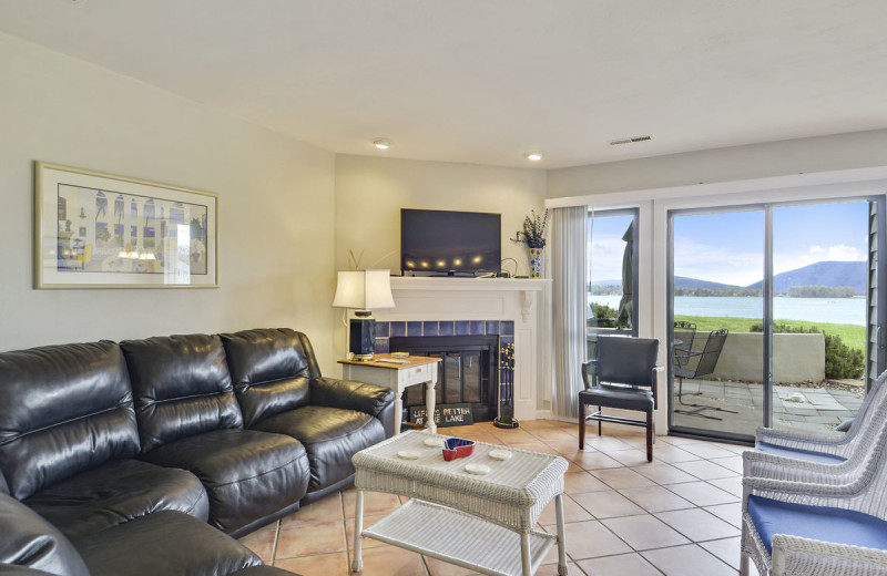 Condo living room at Premier Vacation Rentals @ Smith Mountain Lake.