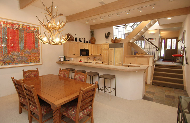 Rental dining and kitchen area at Frias Properties of Aspen - Clarendon #6.
