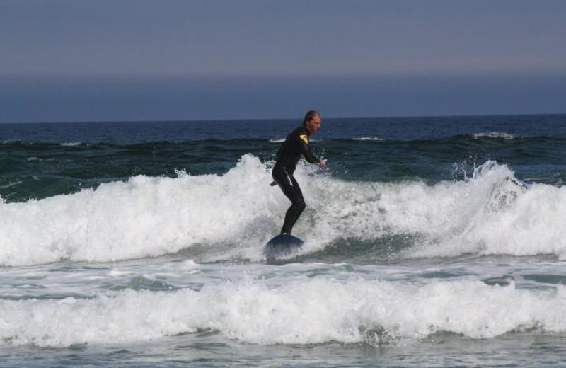 Surfing at White Point Beach Resort