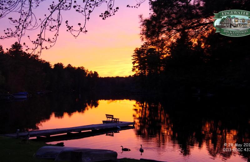 Sunset at Edgewater Inn & Cottages.