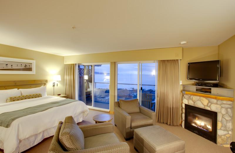 Guest room at  Kingfisher Oceanside Resort & Spa.