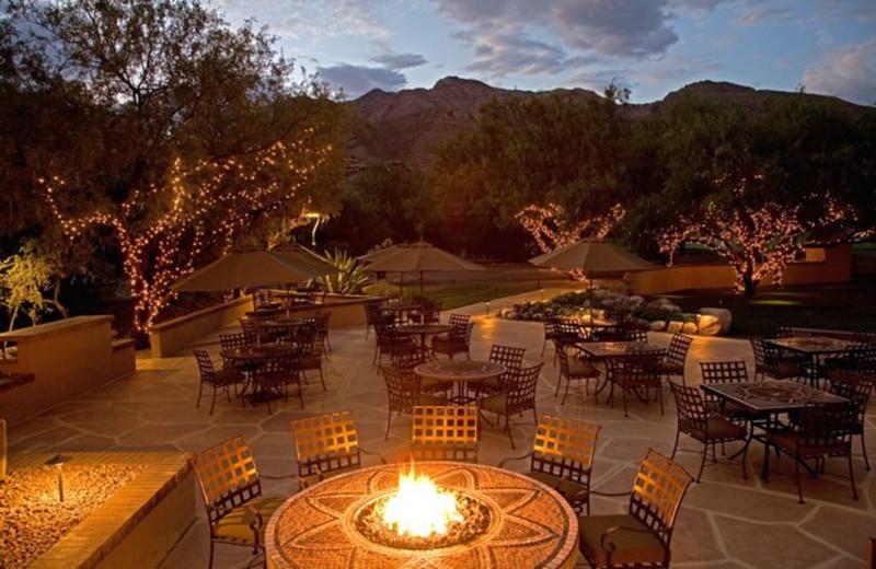 Outdoor patio at The Lodge at Ventana Canyon.