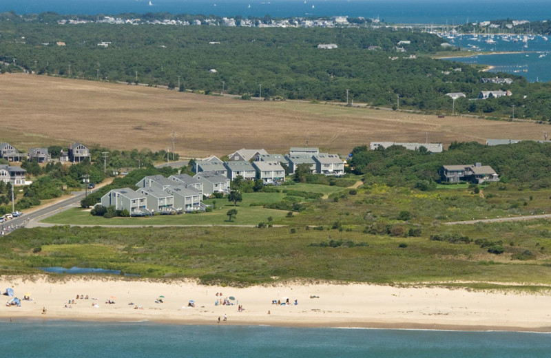 Aerial view of Winnetu Oceanside Resort.