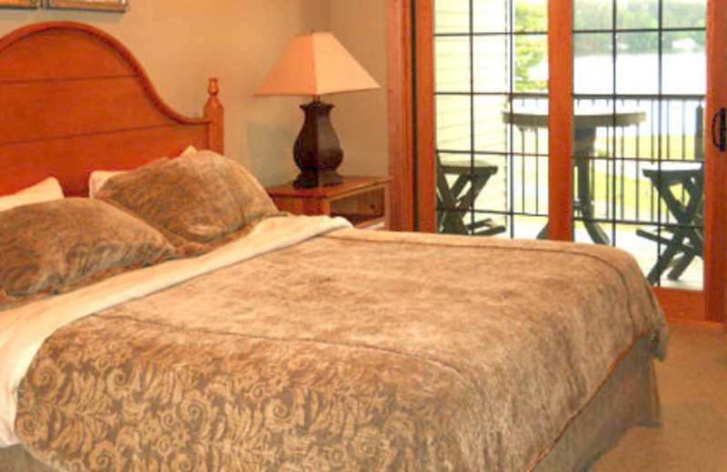 Vacation rental bedroom at Northernaire Resort and Spa.