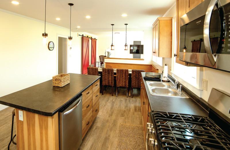 Latest in modern kitchen conveniences.