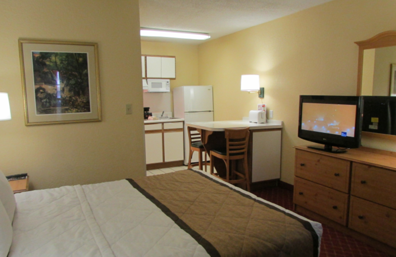 Guest room at Extended Stay America Phoenix - Scottsdale - Old Town.