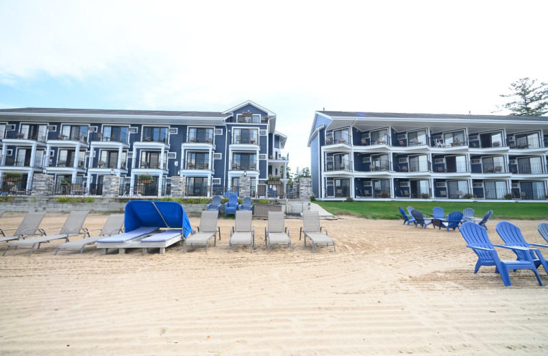 Exterior view of Pointes North Beachfront Resort Hotel.