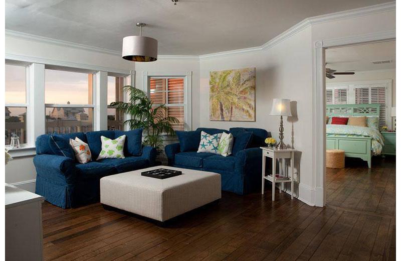 Living room at The Inn at Bald Head Island.