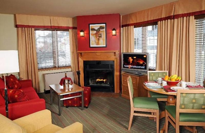Suite interior at Residence Inn Mont Tremblant Manoir Labelle.
