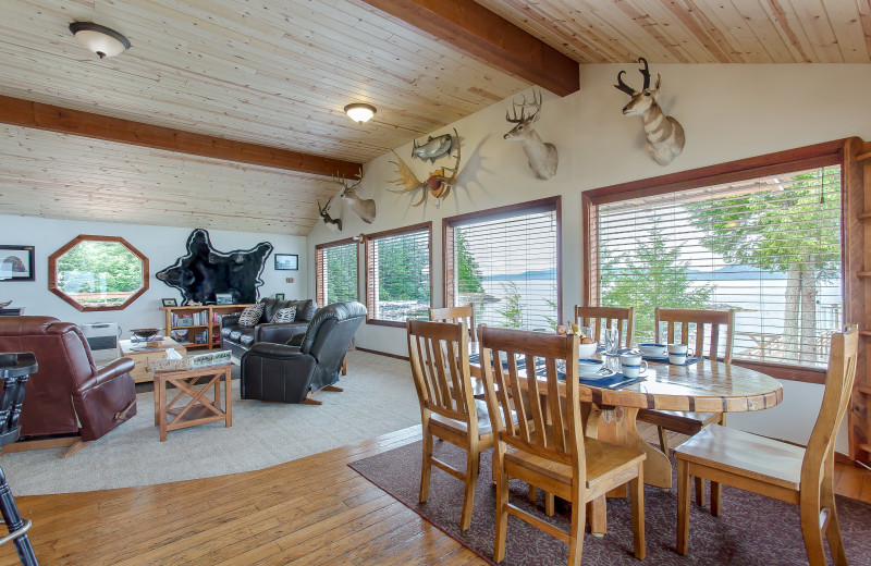 Guest living room at Alaska's Big Salmon Lodge.