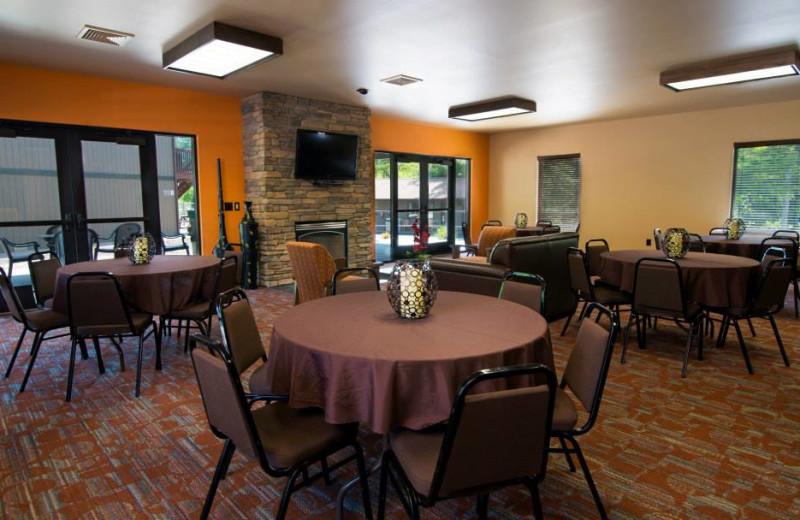Meeting area at Baker's Sunset Bay Resort.