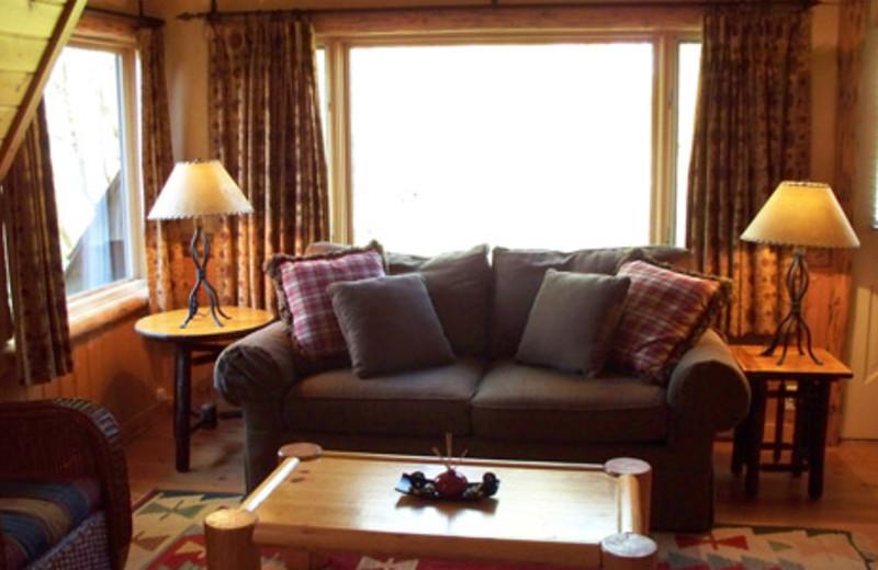 Living room view at The Lodge at Palisades Creek.