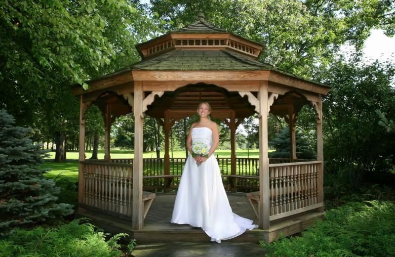 Bride at Lake Morey Resort.