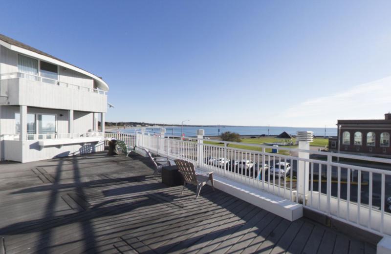 Deck view at Aqua Blue Hotel.