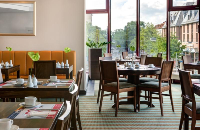 Dining at InterCityHotel Augsburg.