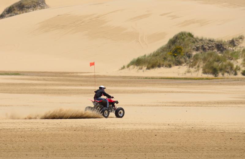 Sand dunes at Adobe Resort.