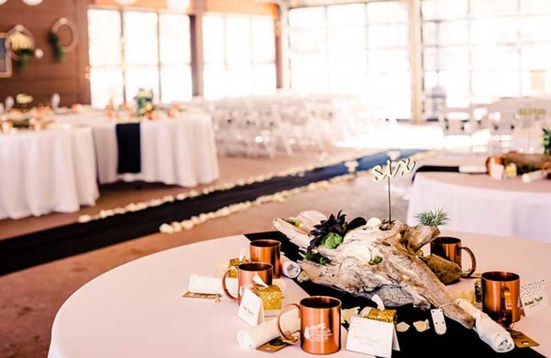 Wedding reception at Izaak Walton Inn.