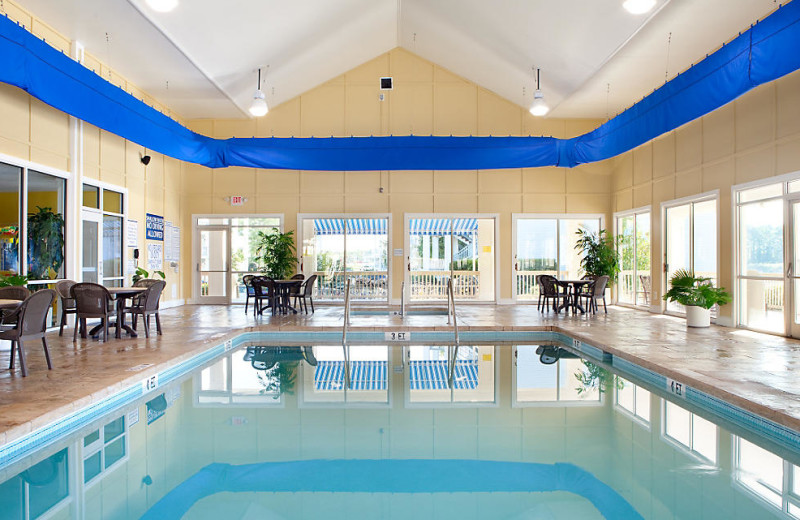 Indoor pool at Harbour Lights.
