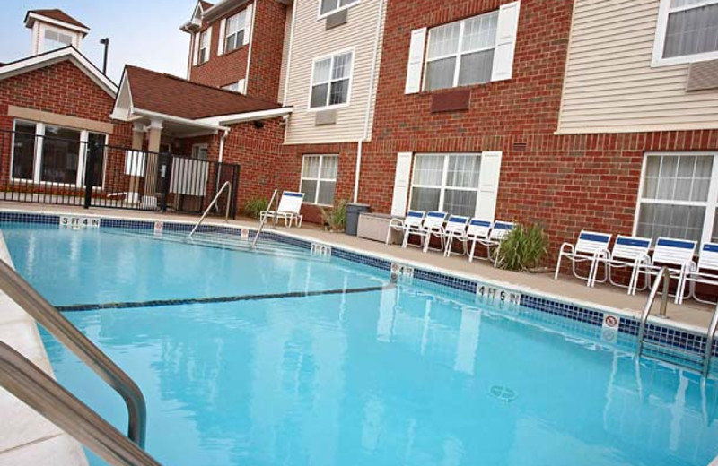Outdoor pool at TownePlace Suites Detroit Sterling Heights.