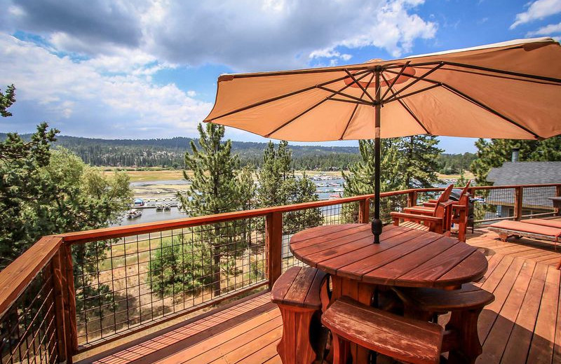 Rental deck view at Big Bear Vacations.