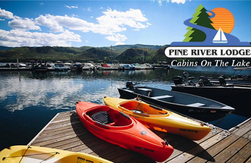 Kayaking at Pine River Lodge.