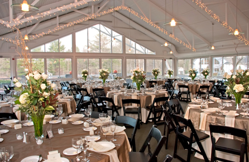 Wedding reception at Essex Resort & Spa.