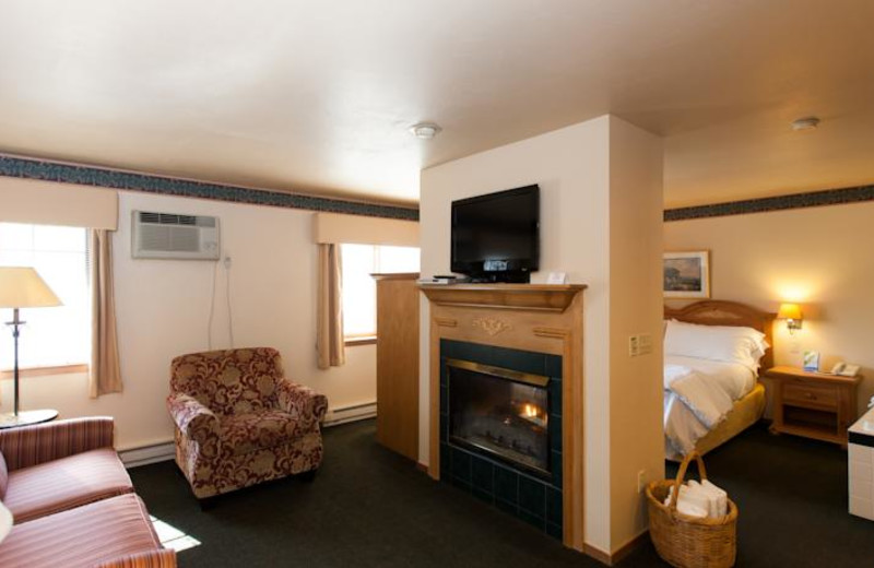 Fireplace suite at Homestead Suites.