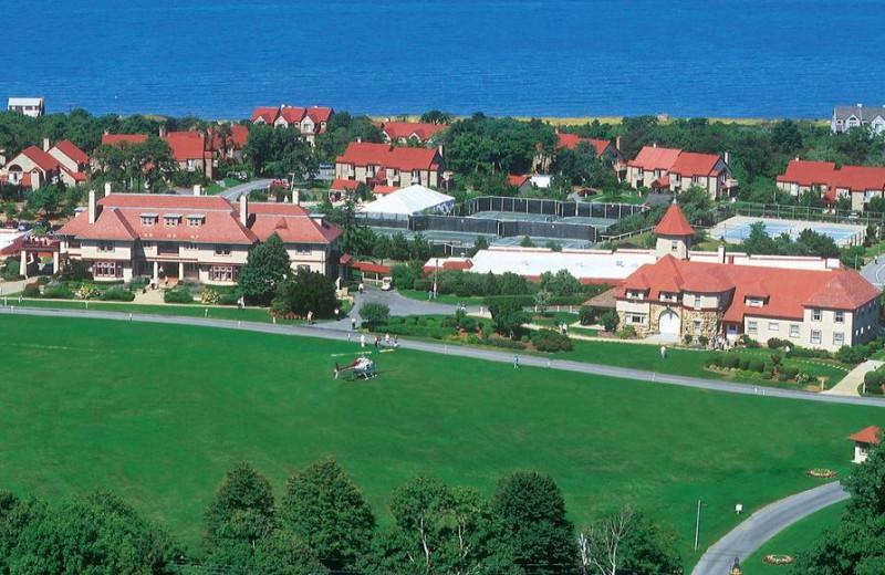 Aerial view of Ocean Edge Resort & Golf Club.