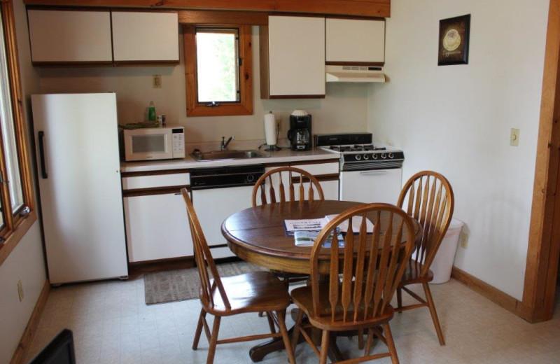 Cabin kitchen at Glenmore Resort.