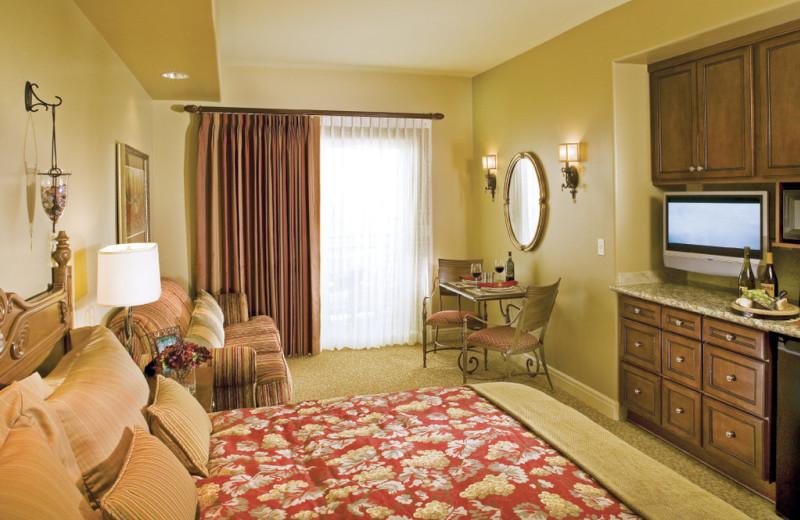Guest room at Vino Bello Resort.