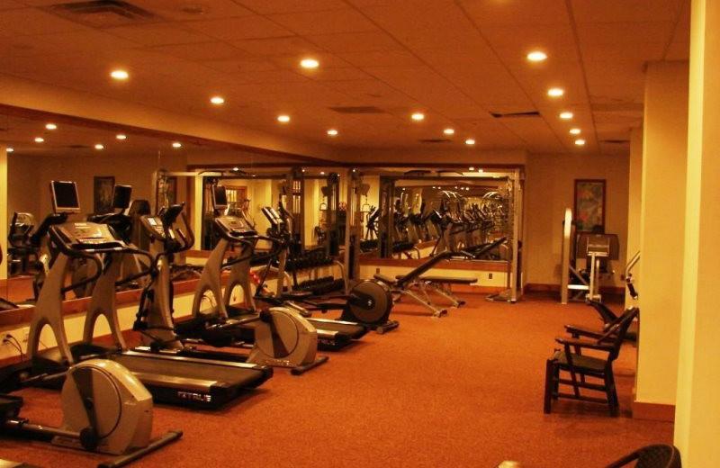 Fitness room at Lake Placid Vacation Homes.