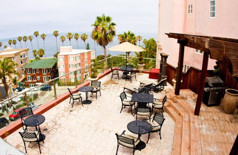 Patio at La Jolla Inn.