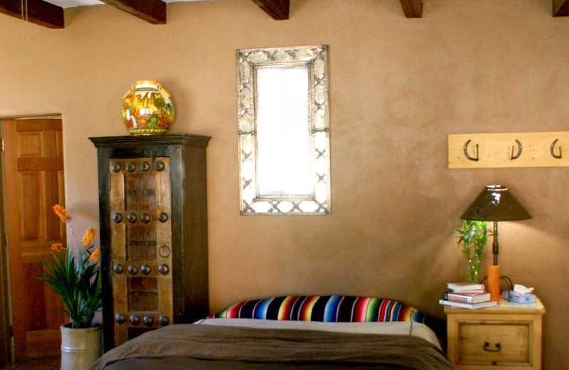 Guest room at The Historic C.O.D. Ranch.
