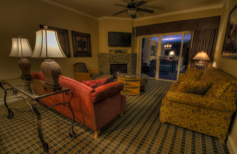 Condo living room at Riverstone Resort & Spa.