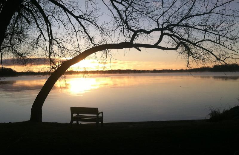Sunset at Brophy Lake Resort.