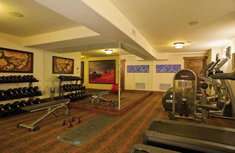 Fitness room at Branded Rock Canyon.