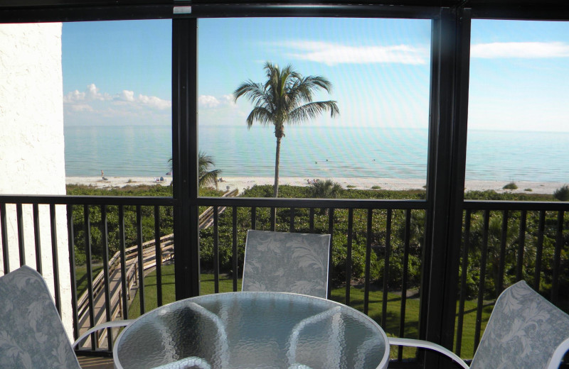 Balcony view at Island Vacations Of Sanibel.