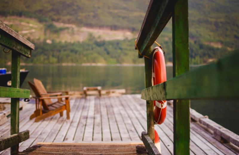 Dock at Wilderness Resort & Retreat.