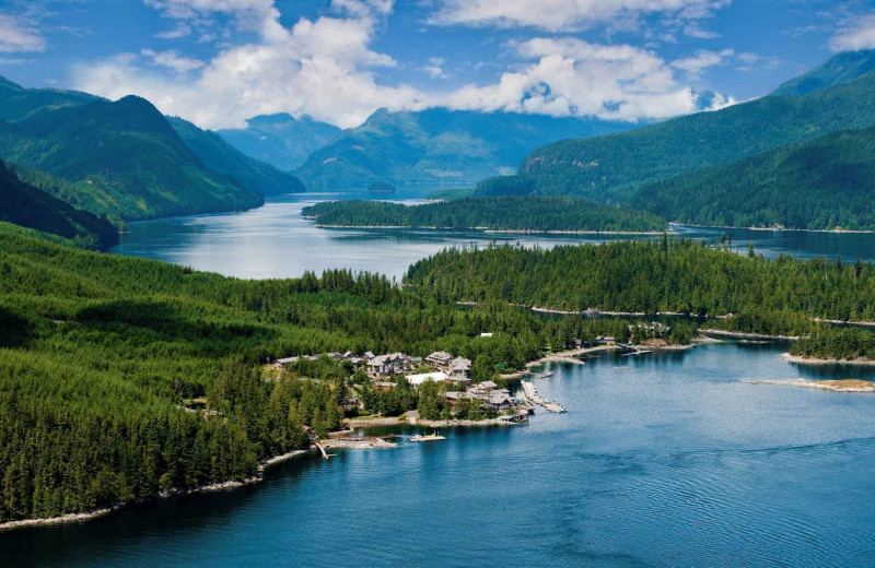 Aerial view of Sonora Resort and Conference Centre, Canada.
