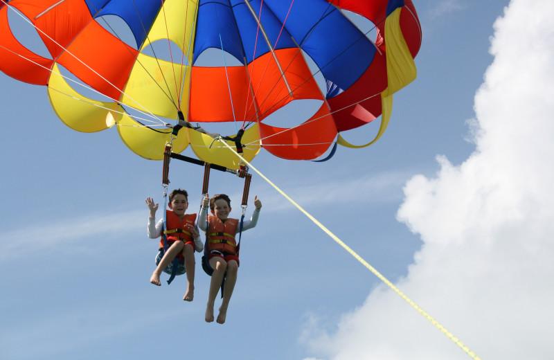Parasailing at Hawks Cay Resort.