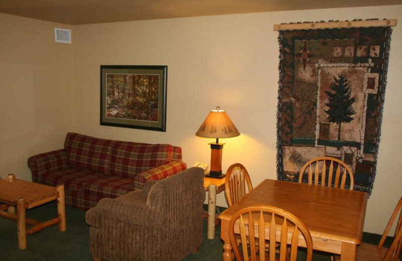 Suite interior at Three Bears Lodge.