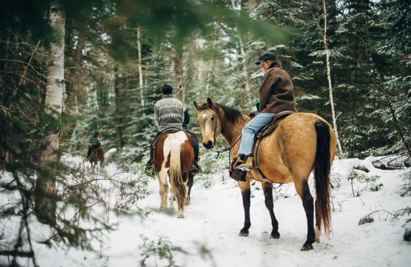 Winter trail riding at Falcon Beach Ranch