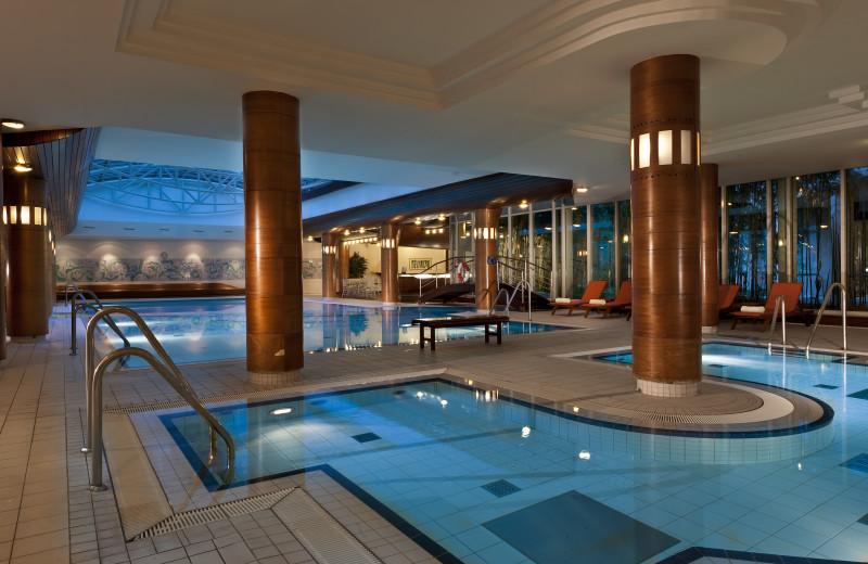 Indoor pool at Steigenberger Parkhotel Dresden-Radebeul.