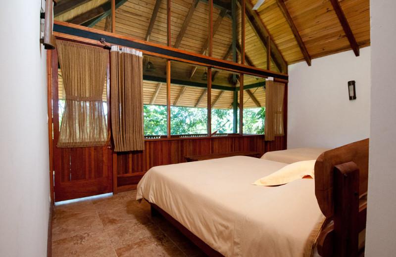 Guest room at Casa Del Suizo and Sacha lodge.