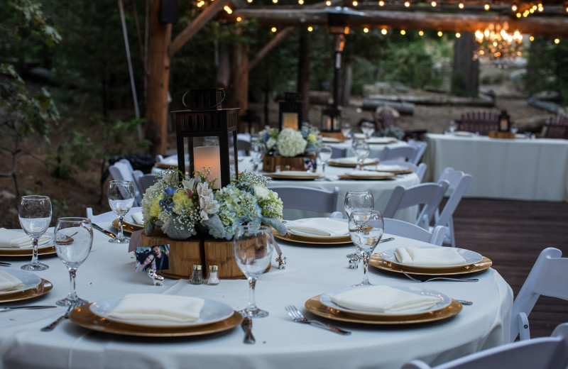 Wedding reception at Arrowhead Pine Rose Cabins.