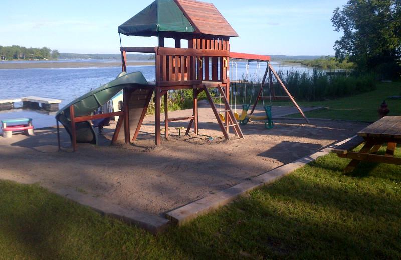 Kids playground at Highland View Resort.