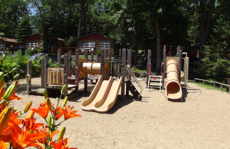 Kid's playground at Fair Hills Resort.