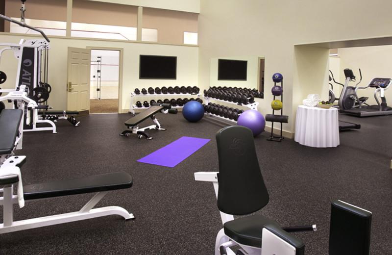 Fitness room at Deerstalker Resort.