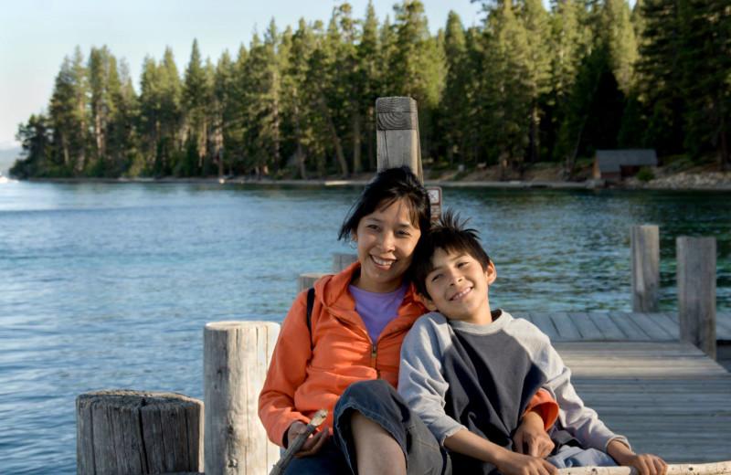 Family at Lake Tahoe Accommodations.